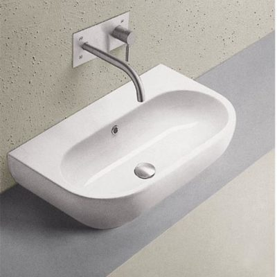 D T wall mounted ceramic basin