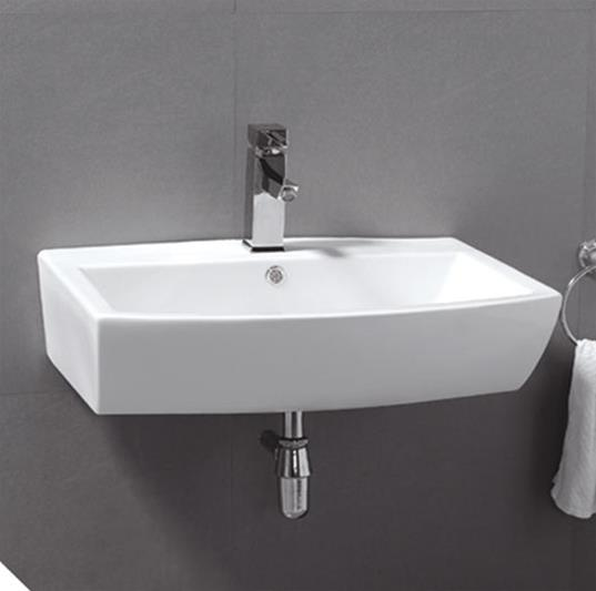 E07W Wall Mounted Ceramic Basin