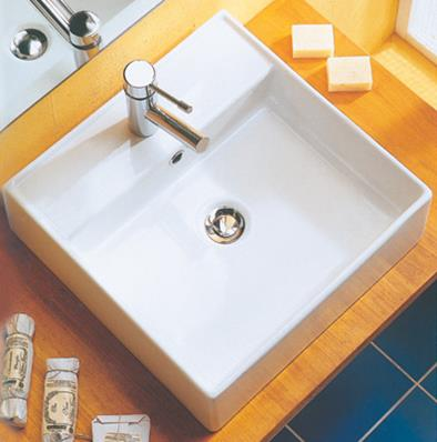 E T wall mounted ceramic basin