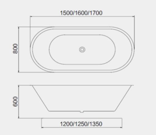 BT free standing bathtub Specs