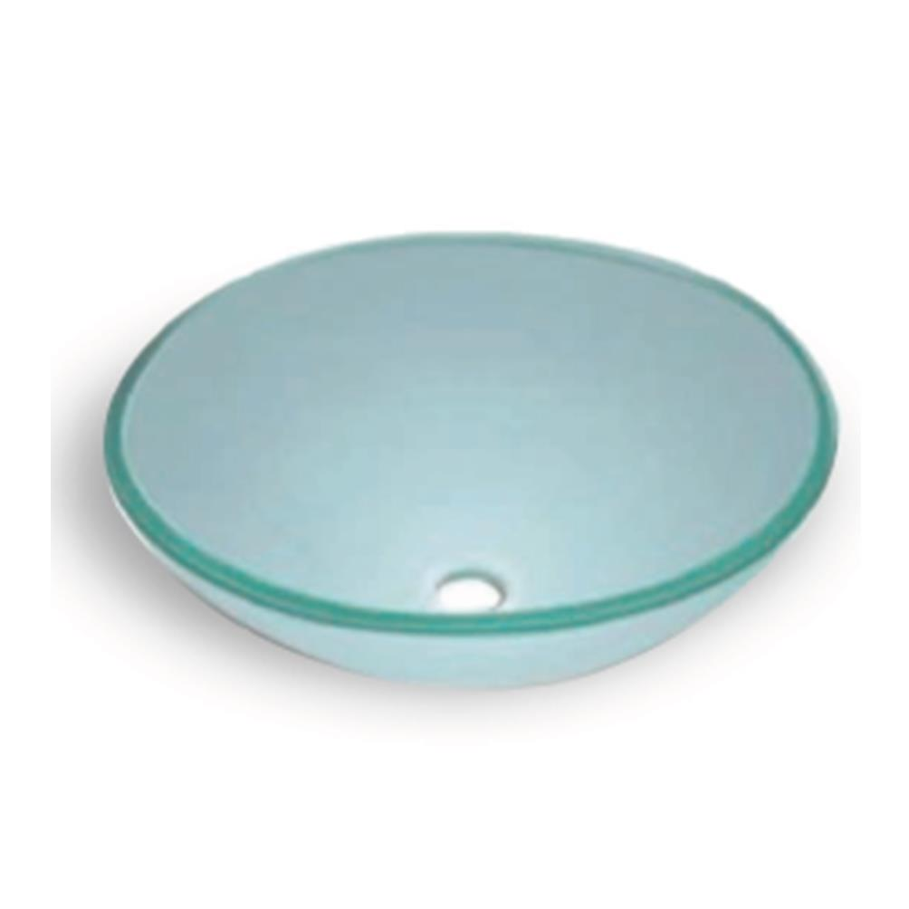 Home glass basins 420fw frosted white glass basin