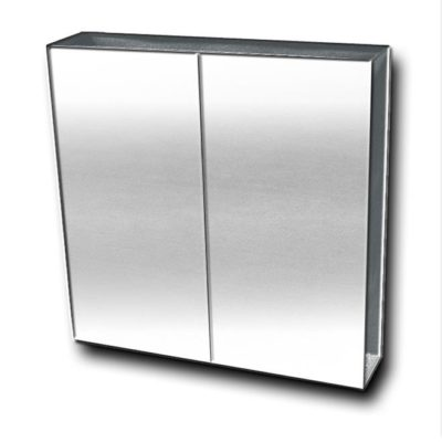 FMC A STAINLESS STEEL MIRROR CABINET