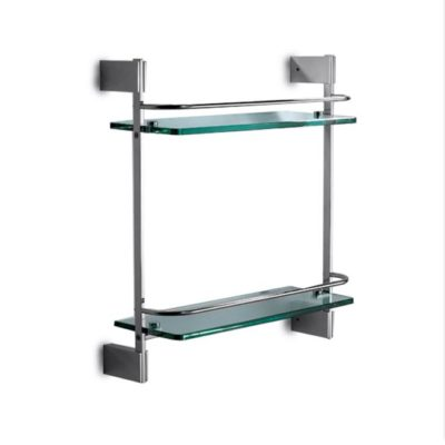 F DOUBLE GLASS SHELF