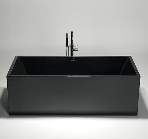 BTB black free standing bathtub