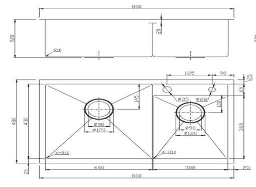 APL-R8048-Kitchen-sink-specs