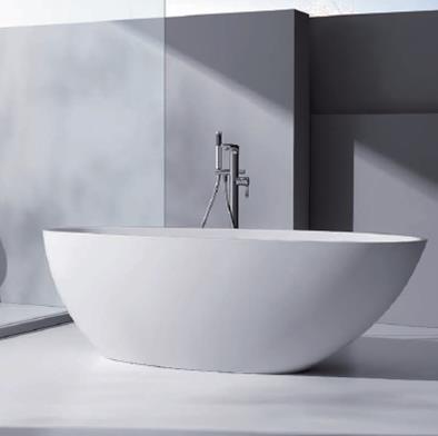 Cast stone bathtubs