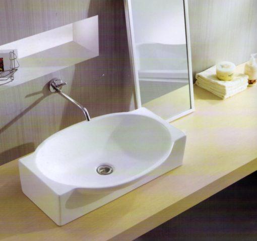 EG T Ceramic Overcounter Basin