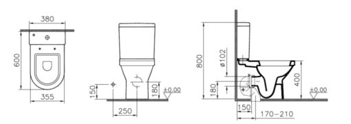 Vitra-S50-Close-coupled-toilet-specifications
