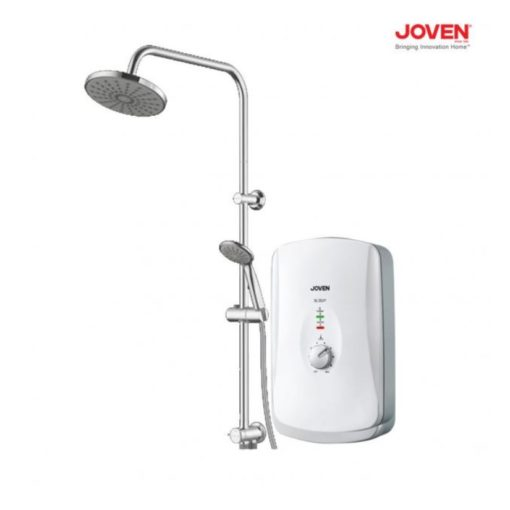 joven sl30 instant water heater with rain shower white bacera. Black Bedroom Furniture Sets. Home Design Ideas