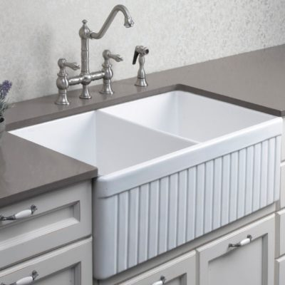 Debbie  Fireclay Ceramic Kitchen Sink