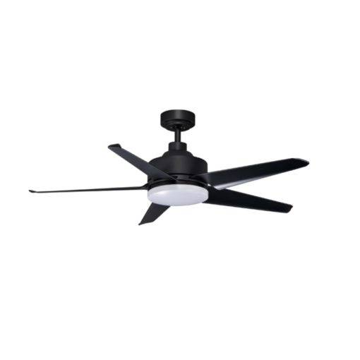 KAZE QUINTO BLACK WITH LED CEILING FAN