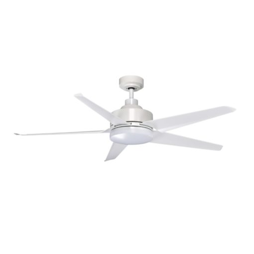 KAZE QUINTO WHITE WITH LED CEILING FAN