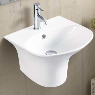C Wall Mounted Ceramic Basin