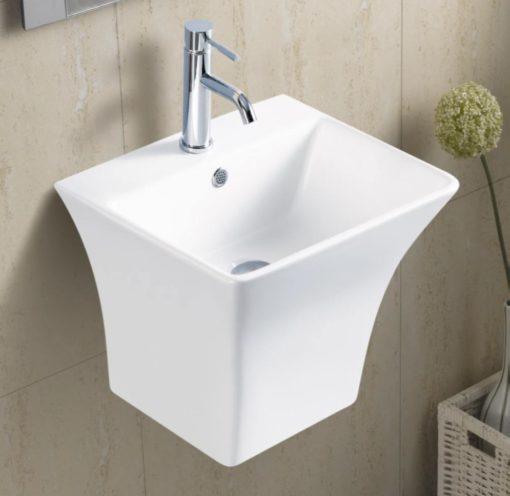 B Wall Mounted Ceramic Bathroom Basin