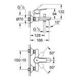 grohe-32820000-bauedge-bath-mixer-specs