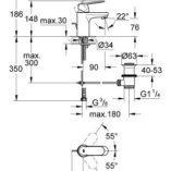 grohe-3282500e-eurosmart-cosmopolitan-basin-mixer-specs