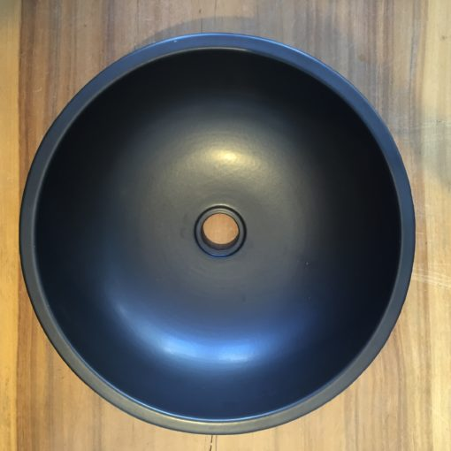 HLG P Ceramic Basin with flower motif top view