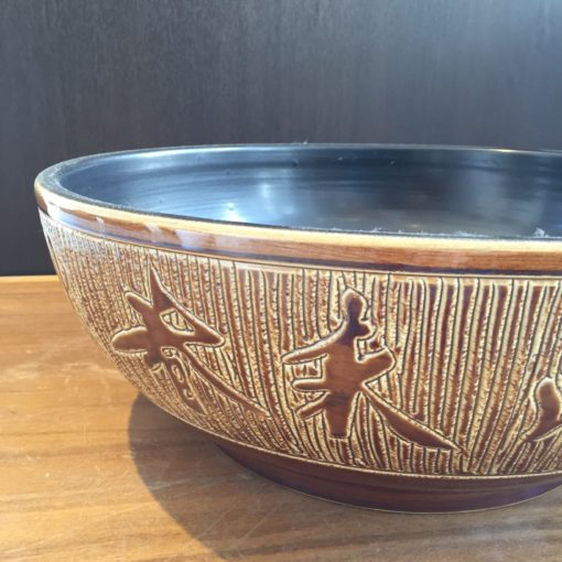 JIN  Ceramic Basin with engraved chinese characters side view e