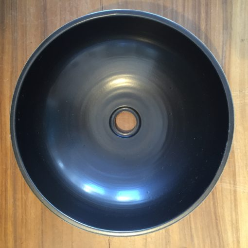 JIN  Ceramic Basin with engraved chinese characters top view