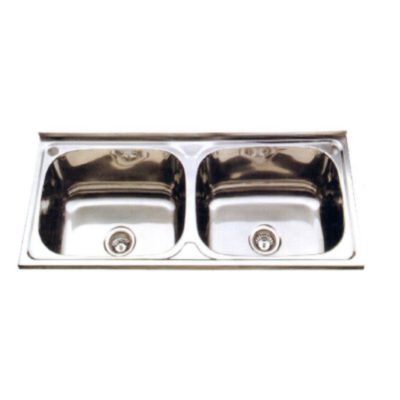 L lay on wall mounted double bowl sink
