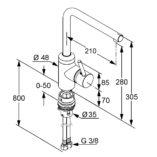 kludi-42814-l-ine-kitchen-mixer-specs