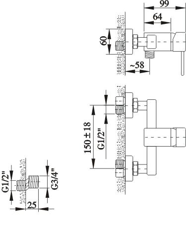 SQ Shower Mixer Specs