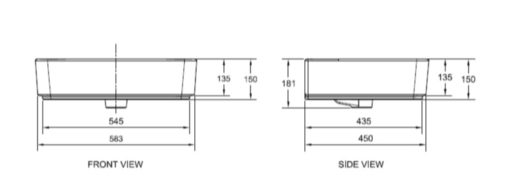 American Standard W Wall Mounted Basin Specs