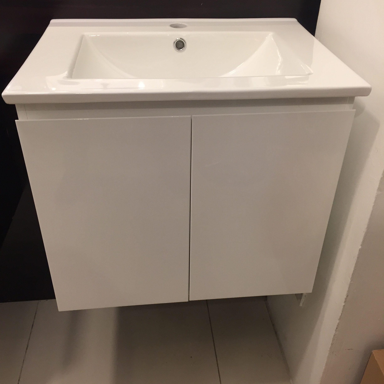 Helsinki Pvc Bathroom Cabinet White Bacera