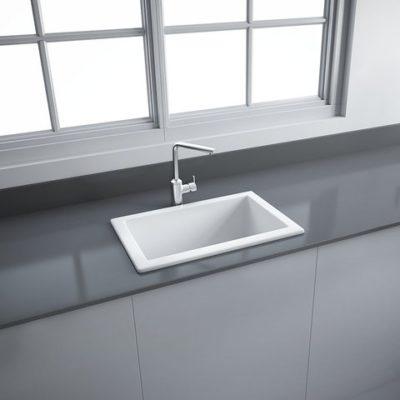 LS Fireclay Ceramic Laboratory Sink