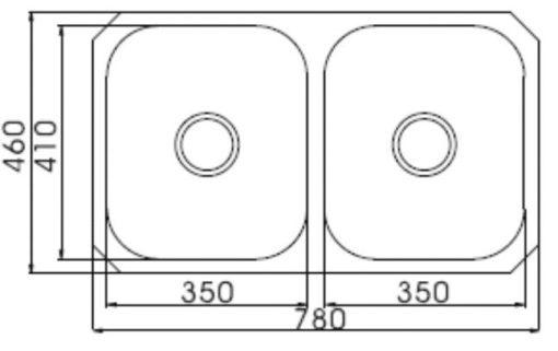 Englefield UM Double Bowl Undermount Kitchen Sink Specs