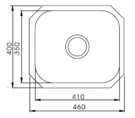 Englefield UM Single Bowl Undermount Kitchen Sink Specs