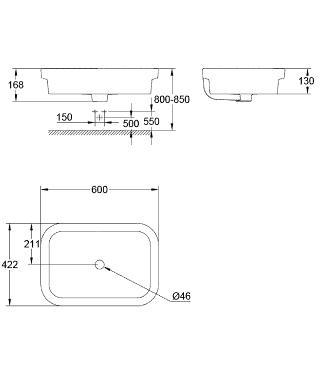 Grohe-Eurosmart-39124001-ceramic-overcounter-basin-specs