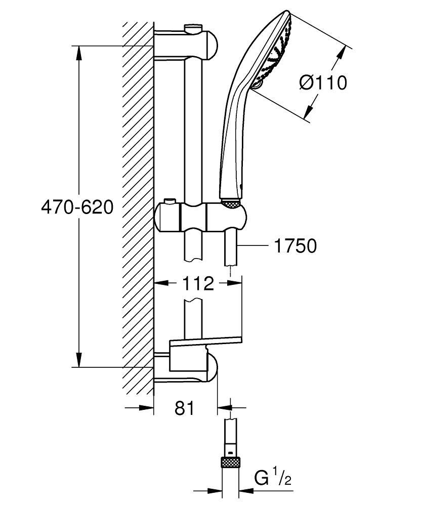 GH27231001-Euphoria-110-Massage-Shower-Rail-Set-3-sprays-specs