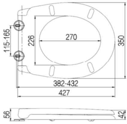 BUK UF Toilet Seat Cover Specs