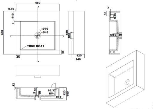 A1-Counter-Top-Basin-Specs