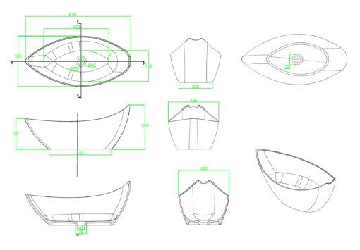A100-Counter-Top-Basin-Specs