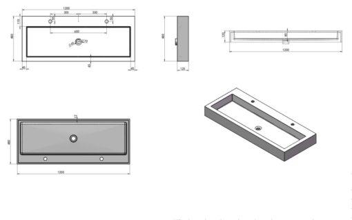 A15-Counter-Top-Basin-Specs