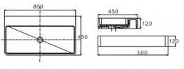 AK Wall Hung Basin dimensions