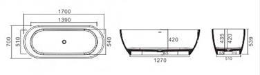 BTSM Free Standing Bathtub dimensions
