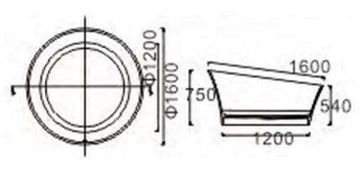 BTS Free Standing Bathtub dimensions