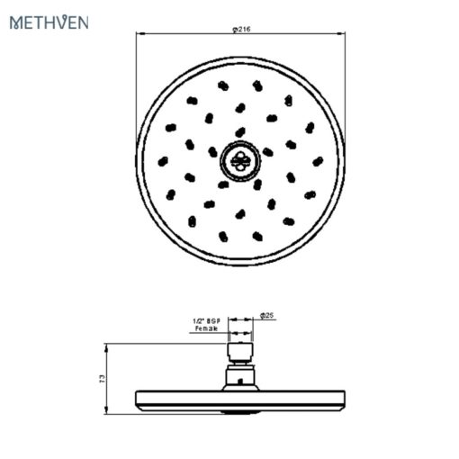 Methven-KI200-Overhead-Drencher-Shower-Head-Specs
