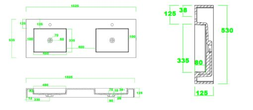 PW Counter Top Basin Specs