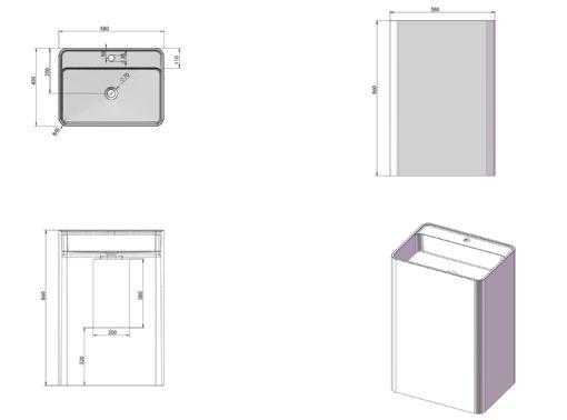PW Freestanding Basin Specs
