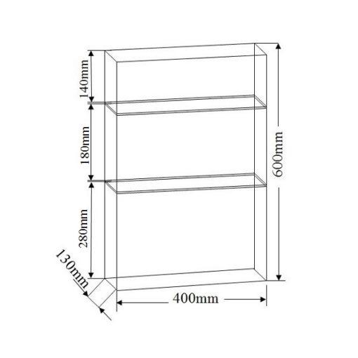 NTL C B Mirror Cabinet dimensions