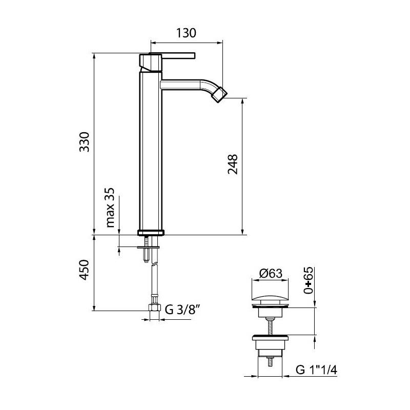 AZ830401-Tall-Basin-Mixer