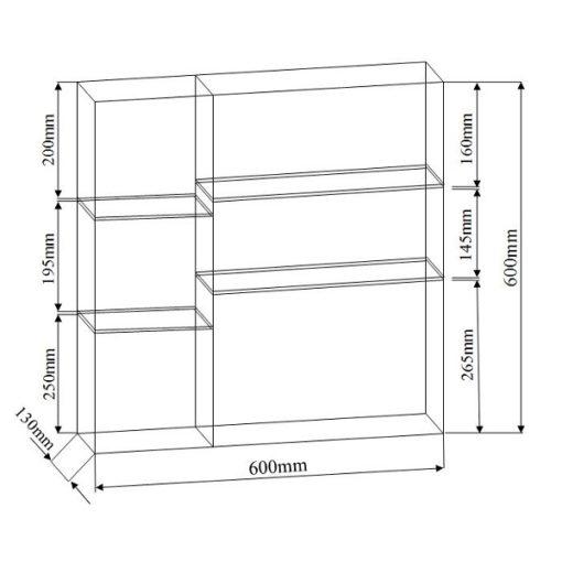NTL CA Mirror Cabinet dimensions