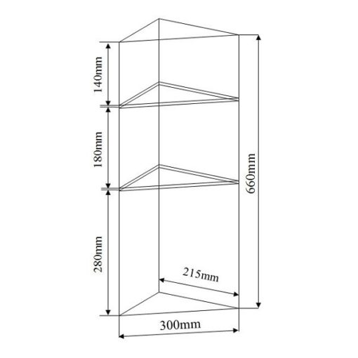 NTL C Mirror Cabinet dimensions
