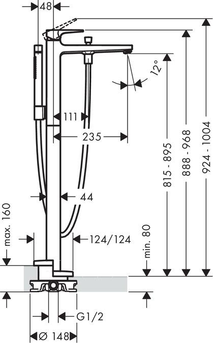 HG74532000-Metropol-Floor-Standing-Bathtub-Mixer-specs