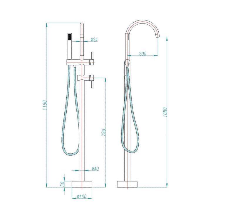 S813-free-standing-bathtub-mixer-specs