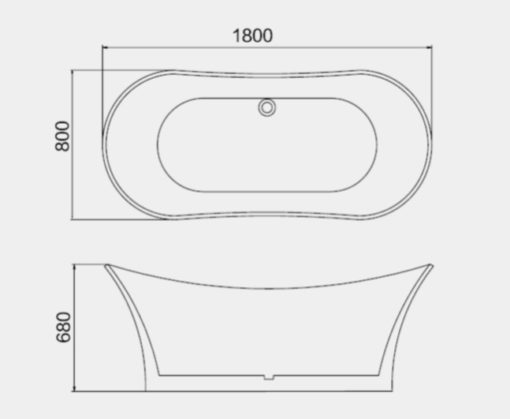BT188-Free-Standing-Bathtub-Specs